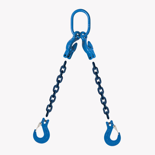 2 Leg Adjustable Lifting Chain Sling - Clevis Sling Hook - G100