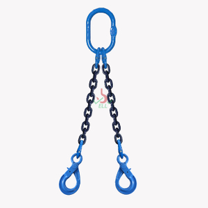 2 Leg Lifting Chain Sling - Eye selflock Hook - G100